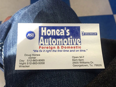 Honea's Automotive Sign | Honea's Automotive